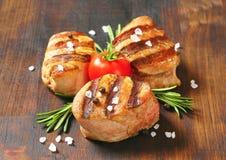 Médaillons grillés de porc Image libre de droits