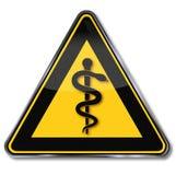 Médecin, aesculapius et serpent de signe illustration libre de droits