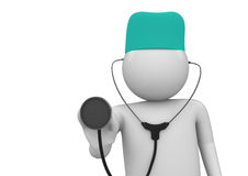 Médecin au plan rapproché de travail Photo libre de droits