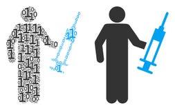 Médecin Composition des éléments binaires illustration de vecteur
