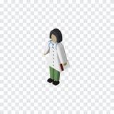 Médecin d'isolement Isometric Docteur Vector Element Can soit employé pour le docteur, médecin, infirmière Design Concept Images stock