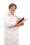 Médecin de famille aîné Images libres de droits