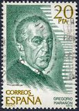 Médecin endocrinien, scientifique, historien, auteur et penseur espagnol, Gregorio Maranon y Posadillo photo stock