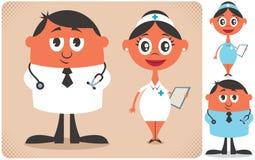 Médecin et infirmière Images libres de droits