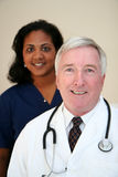 Médecin et infirmière Photos stock