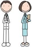 Médecin et infirmière illustration de vecteur