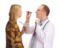 Médecin et patient Photographie stock libre de droits