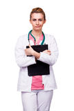 Médecin intéressé photos stock