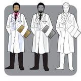 Médecin noir Images libres de droits