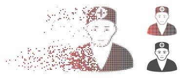 Médecin tramé de dissolution Icon de pixel Images libres de droits