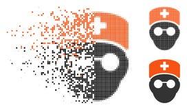 Médecin tramé pointillé en mouvement Head Icon illustration stock