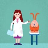 Médecin vétérinaire Cure Rabbit illustration libre de droits