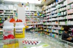 Médecine dans la pharmacie Images libres de droits