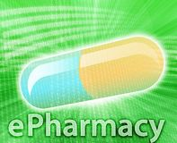 Médecine en ligne Image libre de droits