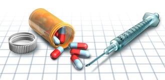 Médecine et drogues Photographie stock libre de droits