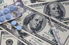 Médecine payée Images stock