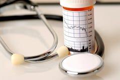 Médecine pour le marché boursier photos stock
