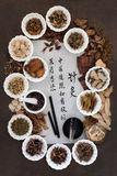 Médecine traditionnelle d'acuponcture Image libre de droits