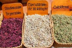 Médecine traditionnelle du marché de médecine de fines herbes Images libres de droits