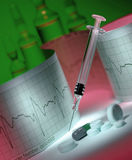 Médecine - traitement cardiaque Photos libres de droits