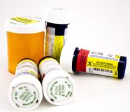 Médecines de prescription Photographie stock libre de droits