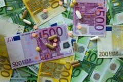Médecines et l'euro Photographie stock