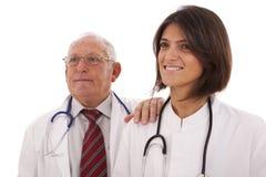 Médecins amicaux d'équipe Photos stock