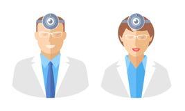 Médecins avec des webcams Photos libres de droits