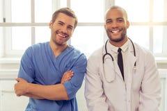 Médecins beaux Image libre de droits