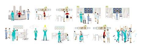 Médecins d'isolement réglés illustration libre de droits