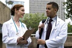 Médecins de consultation Photos stock
