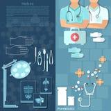 Médecins de médecine dans des soins médicaux d'interne d'hôpital Photo stock