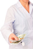 médecins de paiement illicite Photos stock