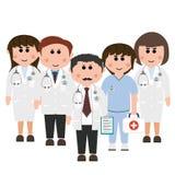 Médecins et infirmières Photos stock