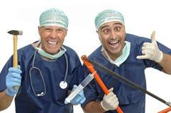 médecins fous Images libres de droits