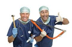 médecins fous Image stock
