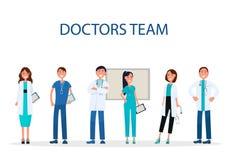 Médecins gais Team Providing Medical Care Flat illustration libre de droits