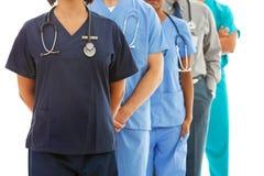 Médecins : Groupe anonyme de médecins photographie stock libre de droits