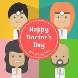 Médecins heureux jour image stock