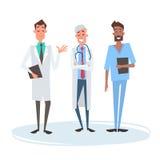 Médecins médiaux Man Team Clinics Hospital de groupe Image libre de droits