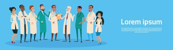 Médecins médiaux Team Clinic Banner de groupe Photographie stock libre de droits