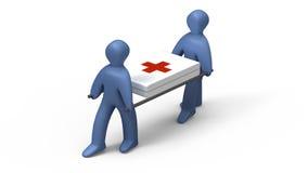 Médecins retenant la civière Image stock