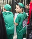 Médecins sous le feu Rassemblement dans Trafalgar Square Images stock