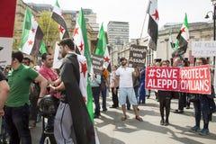 Médecins sous le feu Rassemblement dans Trafalgar Square Photographie stock