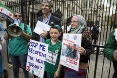 Médecins sous le feu Rassemblement dans Trafalgar Square Photographie stock libre de droits