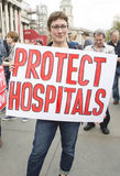 Médecins sous le feu Rassemblement dans Trafalgar Square Photo stock