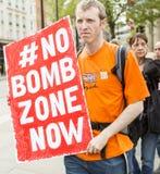 Médecins sous le feu Rassemblement dans Trafalgar Square Image libre de droits