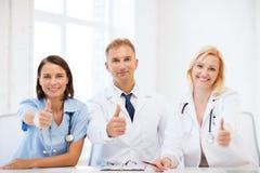 Médecins sur une réunion Image libre de droits