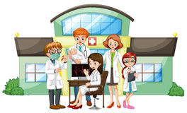 Médecins travaillant dans l'hôpital illustration libre de droits