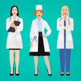 Médecins Vector Ser Illustration Stock